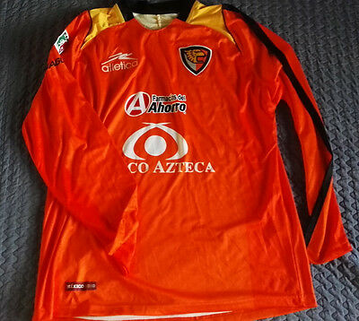 Team Jaguares Mens Official Soccer Orange Jersey LS Atletica Size L 2010  image