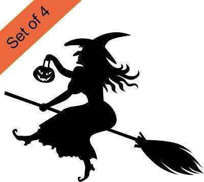 Halloween Scary Window (Halloween Witch Stickers Window scary pumpkin seasonal Wall sticker shop)