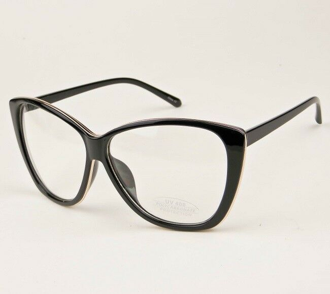 a9346cecdd2 Big XL Oversized Cat Eye WaYfe Fashion Clear Lens Large Eyeglasses Frames  3208 L ...