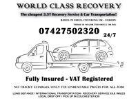 Brakedown Recovery Service / Car Transportation 3.5T