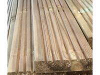 4.8mtr 5inch x 1.3inch pressure treated decking £7 each