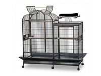 Extra Large Split Level Parrot Cage With Centre Divider