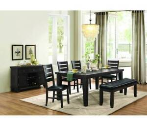 Hardwood Dining Set in Grey/Brown Finish - Delivery Included !!