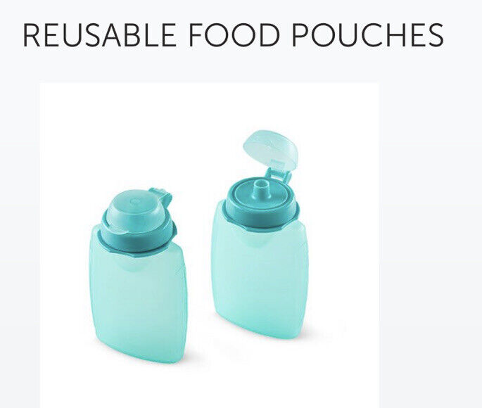 NEW in Pack Pampered Chef #100180 Reusable Food Pouches Set of 2