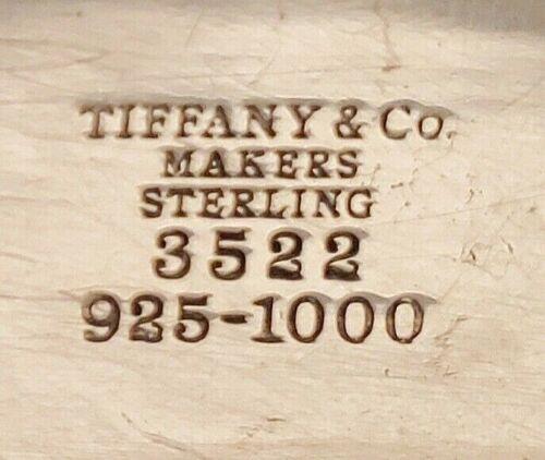 vtg Tiffany & Co. makers sterling silver 3524 decanter bottle label tag 925-1000