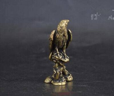 Chinese Collection old Asian archaize old brass eagle small statue pendant
