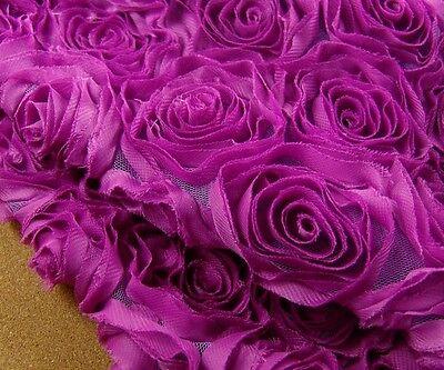 Ausverkauf 3D Rose Braut Abendkleid Chiffon Rand Hochzeit Kostüm DIY - Chiffon Spitze Kostüm