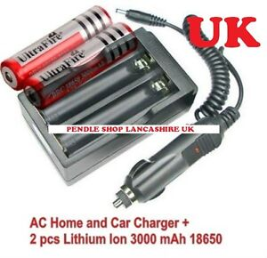 18650 Car Charger & Home Charger, UltraFire, TrustFire, For Li-ion Batteries UK
