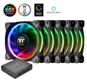 Thermaltake Riing Plus 120mm 5-Fan Pack RGB TT Premium Edition