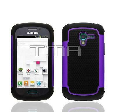 Fits Samsung Galaxy Ace 2 II-E T599 Case Rugged Impact Shockproof Cover - Purple for sale  Les Cedres