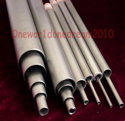 1x Titanium Grade 2 Gr.2 Tube Tubing Od 28mm X 22mm Id Wall 3mm Length 440mm