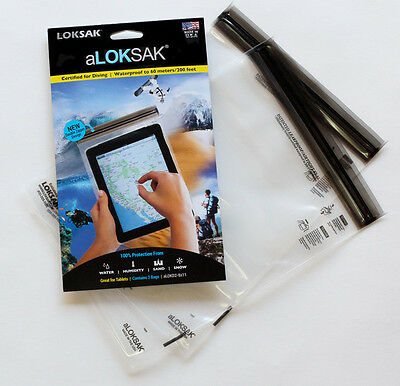 2 Aloksak 8 x 11 New Double Zipper Waterproof Airtight Bags LOKSAK Smartphone