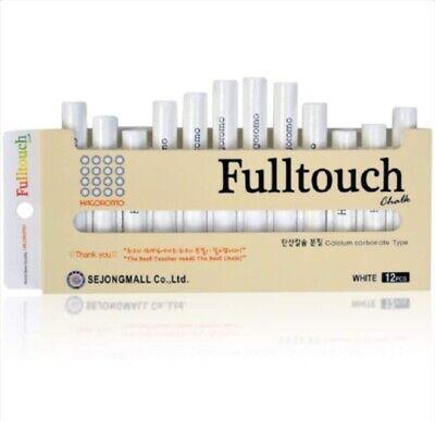 HAGOROMO Fulltouch Color Chalk 1 Box [12 Pcs / White]