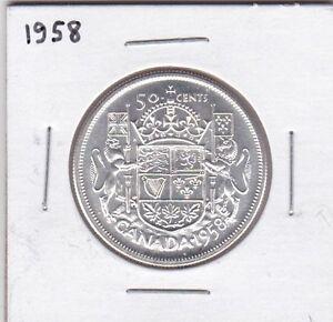 MONNAIE 50¢ DE 1958 CANADA....