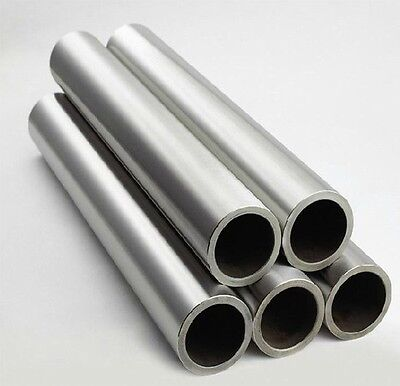 1x Titanium Grade 2 Gr.2 Tube Tubing Od 45mm X 37mm Id Wall 4mm Length 500mm