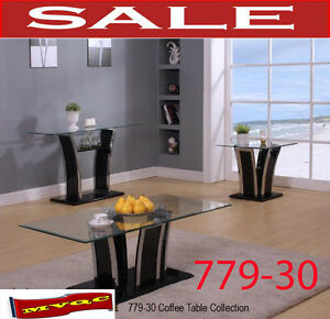 779-30, glass coffee table, side tables, sofa tables, consoles