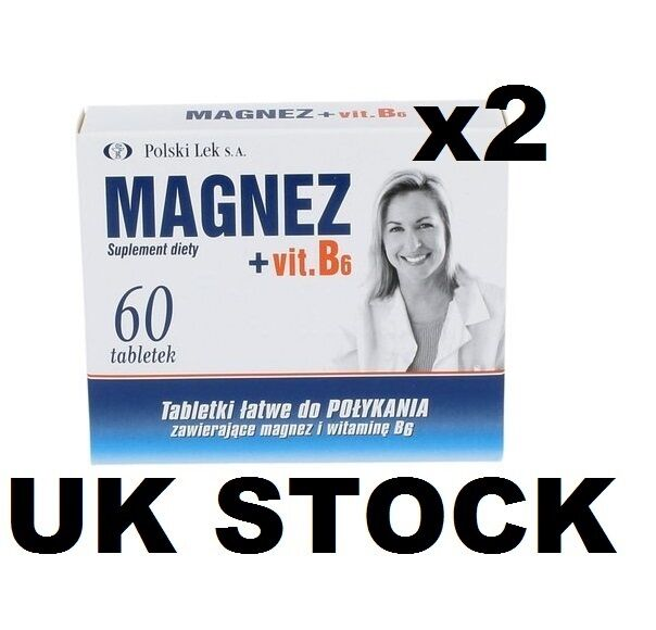MAGNESIUM VITAMINA B6 , 120 TABLETS magnez z witamina B6 , magne b6 UK STOCK