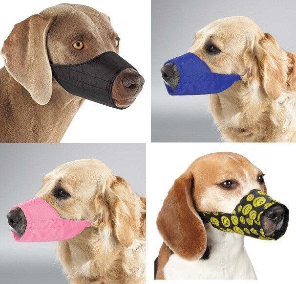Nylon Dog Muzzle, USA Seller, Fabric Adjustable Guardian Gear No bite bark