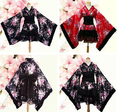 Lolita Japan Kimono Maid Kleid Sexy Sakura Vocaloid Cosplay Kostüm Miku - Sakura Miku Kostüm