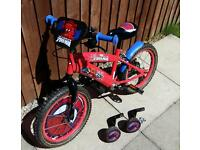 "Boys Spiderman bike 16"" Excellent condition"