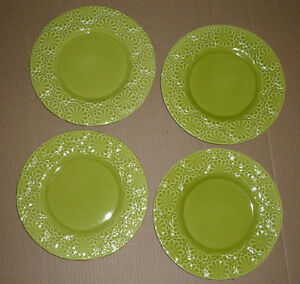 4 Dinner/Salad Plates from Pier 1 : NEW : Never Used : As Shown