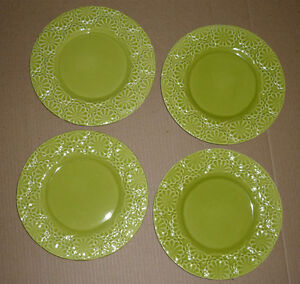 4 Dinner/Salad Plates from Pier 1 : NEW : Never Used : As Shown Cambridge Kitchener Area image 1