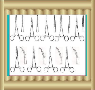 10 Asrtd Kelly Locking Hemostat Forceps 5.5 Surgical