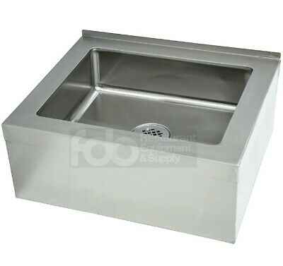 25 Stainless Steel 20 X 16 12 Floor Mop Bucket Utility Sink Commercial Drain