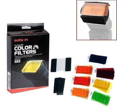 Godox 35pcs Photography Speedlite Flash 7 colors Square Balance Gel Filter Kit Gel Filter Kit