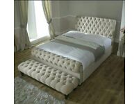 Chesterfield Crushed velvet Bed # ANY SIZE