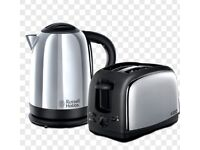 Russell Hobbs toaster and kettle set for sale