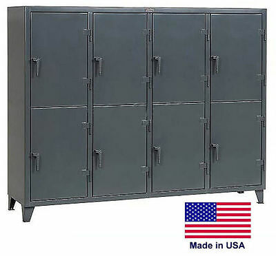 Personnel - Personal Locker Coml Industrial - 8 Lockers - 78 H X 24 D X 98 W