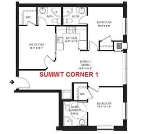 Solstice 1 - 3 Bedroom with private bathrooms