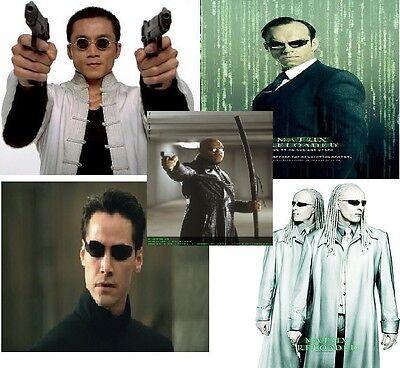 5 x Glasses Matrix Twins + Morpheus + Agent Smith + Neo + Seraph + (Agent Smith Glasses)