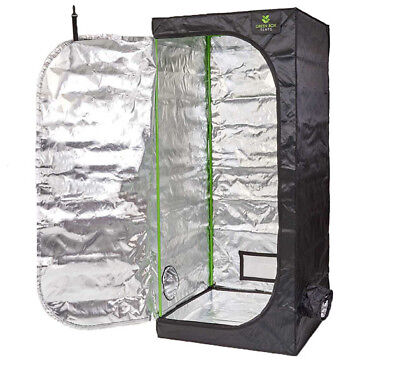 Professional Green Box Grow Tent 0.8m x 0.8m x 1.8m Hydroponics Grow Room Plants