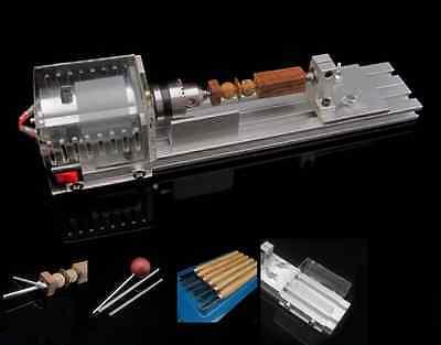 Diy Fundamental Wood Lathe Mini Lathe Machine Cutting Polisher Table Saw L-01