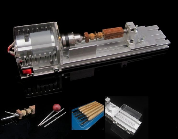DIY Fundamental Wood Lathe Mini Lathe Machine Cutting Polisher Table Saw L-01!!!