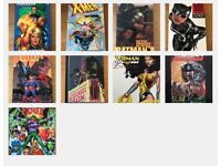 Collection of 9 graphic novels from DC & Marvel