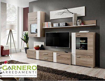 Parete attrezzata MEXICO Gihome ® mobile soggiorno base tv moderna design