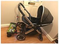 Babystyle oyster 2 buggy with lascal buggy board. Pram pushchair