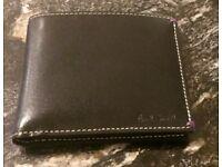 Paul Smith Black Leather Billfold Wallet