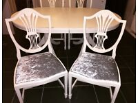 Beautiful table and 4 Sheild back chairs