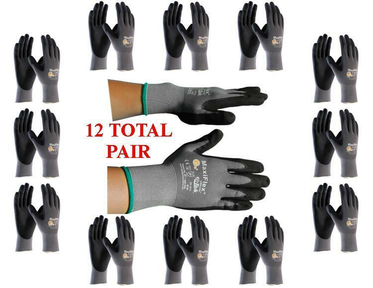 GTek MaxiFlex 34-874 PIP Seamless Knit Nylon Gloves - 12  Pairs - Choose Size!