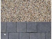 Patio , paving ,Resin banding