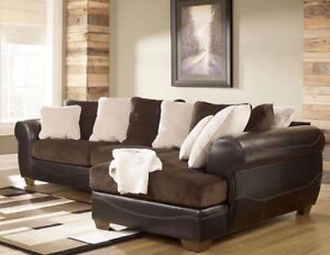 Well cared for Dark brown  sectional with pillows