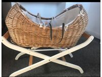 Mamma and Pappas NOAH POD/ MOSES BASKET/CRIB WITH STAND ONLY £55