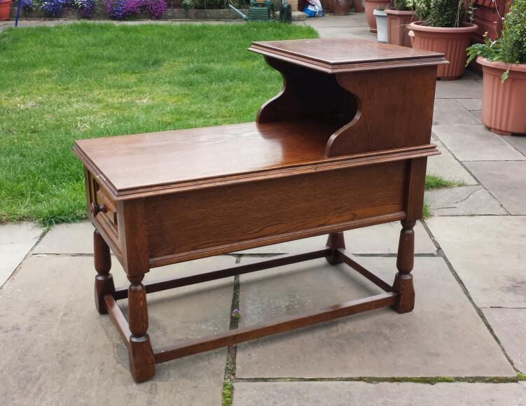 Wooden telephone table coffee table in shrewsbury for Coffee tables gumtree
