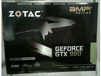Nvidia Graphics card Zotec gtx 960 AMP Edition GDDR5 2GB Ram