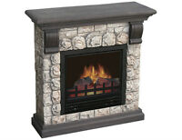 Polystone Electric Fireplace, Model #:POLY-0043. New