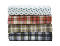 Printed Flannel Queen Sheet Set Red, New
